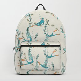 Marine underwater pattern with divers Backpack