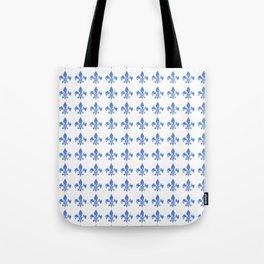 French Blue fleur di li Tote Bag