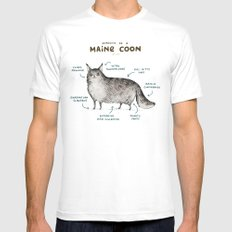 Anatomy of a Maine Coon White LARGE Mens Fitted Tee