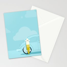 Longboard Days Nº 1 - Blue Variation Stationery Cards