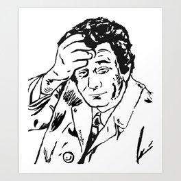 Lieutenant Columbo Portrait Art Print