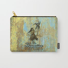 Hawaiian Surf Shack and Hula Girl Designs Carry-All Pouch