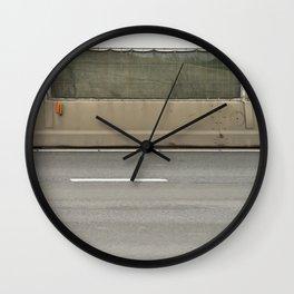 Concrete Autobahn Wall Clock