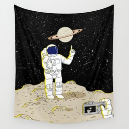 Posing Astronaut  Wall Tapestry