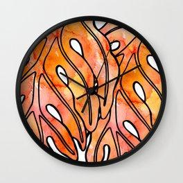 Orange Lau Ulu Wall Clock