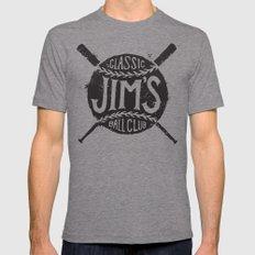 Classic Jim's Ball Club - Tshirt SMALL Mens Fitted Tee Tri-Grey