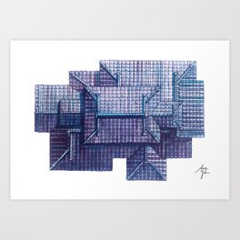 Roof in dream II Art Print