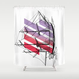 Second Star To the Right Shower Curtain