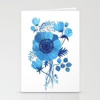 oana befort Stationery Cards featuring BLUES by Oana Befort