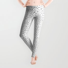 Dotted White & Black Leggings