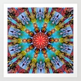 Colordrop Mandala 1 Art Print