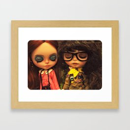 My Delicious Bliss Custom Blythe Art Dolls, Sam & Suzy Framed Art Print