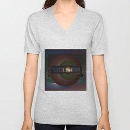 Breakdown 05.  Abstract art print. Unisex V-Neck