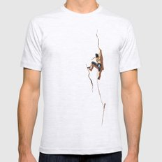 Climbing: Solitude Ash Grey LARGE Mens Fitted Tee