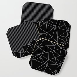 Ab Lines 45 Grey and Black Coaster