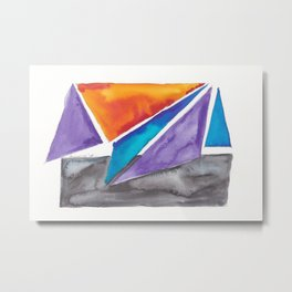180819 Geometrical Watercolour 1| Colorful Abstract | Modern Watercolor Art Metal Print