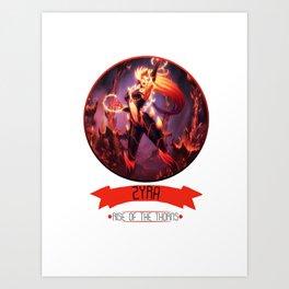 League Of Legends - Zyra Art Print