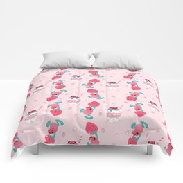 Strawberry poison milk 1 Comforters