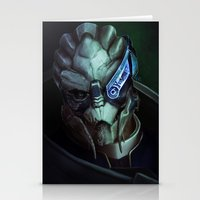 mass effect Stationery Cards featuring Mass Effect: Garrus Vakarian by Ruthie Hammerschlag