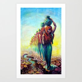 The Water Bearer Art Print