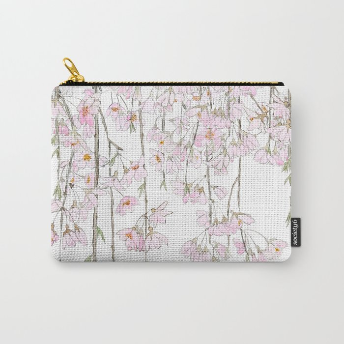 pink cherry blossom spring 2018 Carry-All Pouch