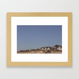 Hatteras Houses Framed Art Print