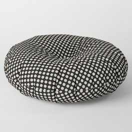 Black and Peyote Polka Dots Floor Pillow
