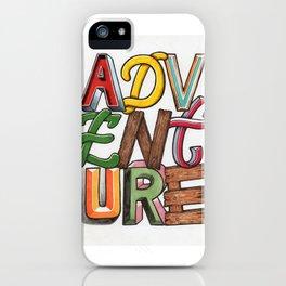 Adventure. Hand Lettering iPhone Case