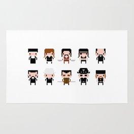 Pixel Machete Characters Rug