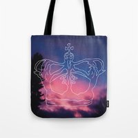 crown Tote Bags featuring Crown by estetographic