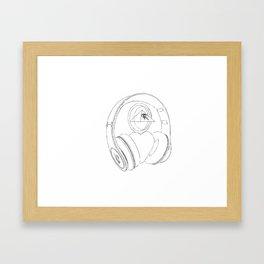Code Framed Art Print