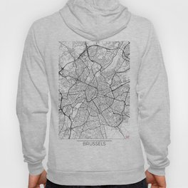 Brussels Map White Hoody