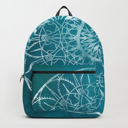 Fire Blossom - Teal Backpack