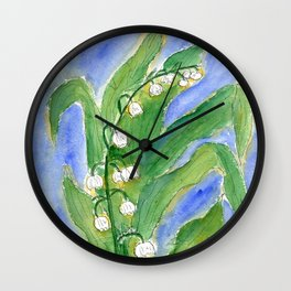 Lilly Of The Valley (Convallaria majalis) Wall Clock