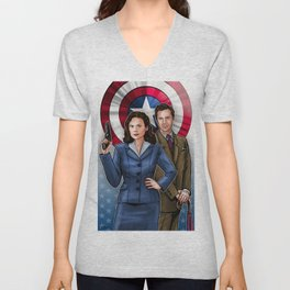Peggy and Jarvis Unisex V-Neck
