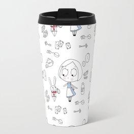 """""""Curiouser and Curiouser"""" Travel Mug"""