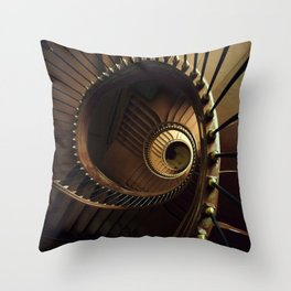 Chocolate spiral staircase Throw Pillow