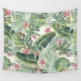 Palm Leaves Pattern 10 Wall Tapestry