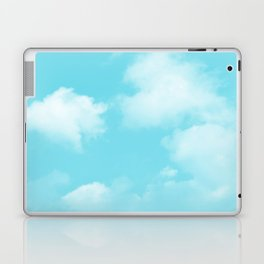 Aqua Blue Clouds Laptop & iPad Skin
