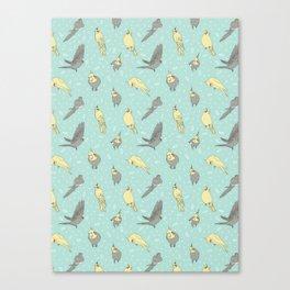 Cockatiel pattern Canvas Print