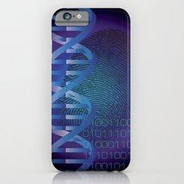 CSI DNA Crime Scene Fingerprint Cool Modern Graphic Illustration iPhone Case