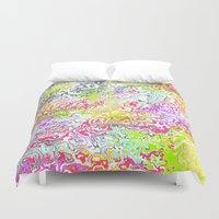 confetti Duvet Covers featuring Confetti by Abstract Designs
