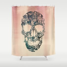 Skull Vintage Shower Curtain
