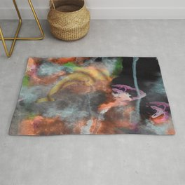 Abstract Art Under the Sea Rug