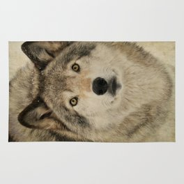 Timber Wolf Portrait Rug