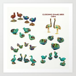 Cloisonne enamel animals China Poster, by Adam Asar 2 Art Print