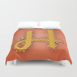 H is for Honeycomb Duvet Cover