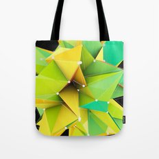 Polygons green Abstract Tote Bag