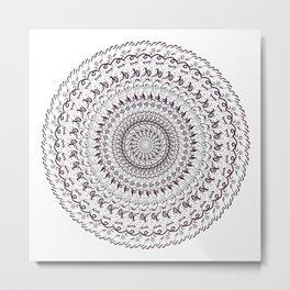 Mono Mandala Metal Print
