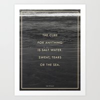 salt water Art Prints featuring Salt Water by Galaxy Eyes